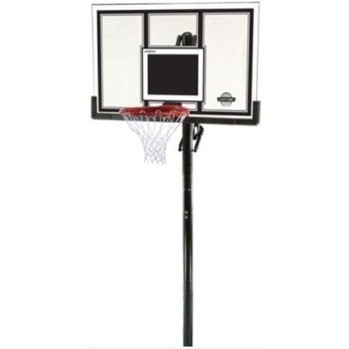Lifetime 71525 Height Adjustable In Ground Basketball System, 54 Inch Shatterproof Backboard 71525