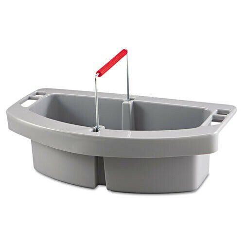 Rubbermaid 2-Compartment Maid Caddy w/ Handle (Gray) 2649GRA NEW
