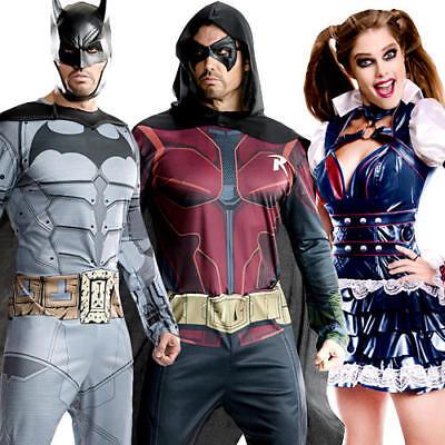 dults Fancy Dress DC Comic Book Ladies Womens Mens Costumes (Batman Arkham City-batman Kostüme)