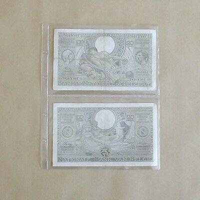 25 inlegbladen formaat FDC voor bankbiljetten - feuilles pour billets de banque