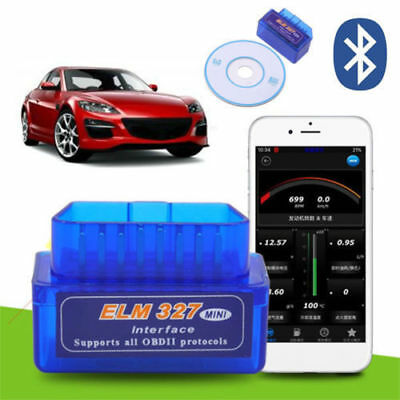 Mini ELM327 OBD2 II Bluetooth Car Diagnostic Tool Portable Auto Scanner