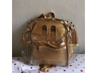 Mickey Mouse Gold Transparent Backpack