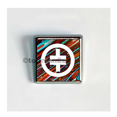 New, Quality Square Metallic Pin Badge - Take That - Lovely Tour Souvenir