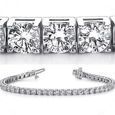 15 ct Round Diamond Tennis Bracelet 14k white Gold 33 x 1/2 ct GIA cert. E-F VS