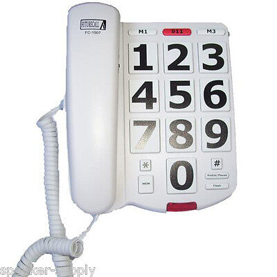 Future Call Large Big Number Button Corded Phone 40dB Loud Handset Volume 1507