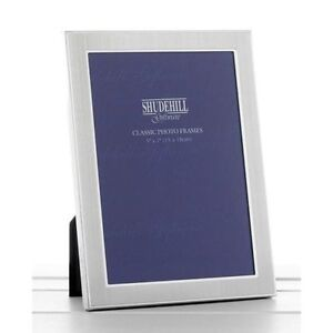 Plain Satin silver photo frame 6 x 8 inch Shudehill Giftware