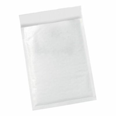 5 StarOffice Jiffy Bags Size 00 Pack 100 (115x195mm) - Peel and seal postal bags