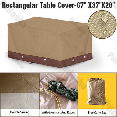 Heavy Duty Durable Rectangle Table Cover Outdoor Furniture Dust Resistant PS15P