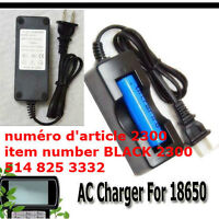 AC Charger For 18650 Rechargeable Li-ion 3.7v Battery