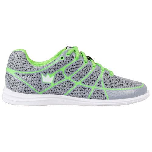 Brunswick Aura Grey Lime Womens Bowling Shoes Universal