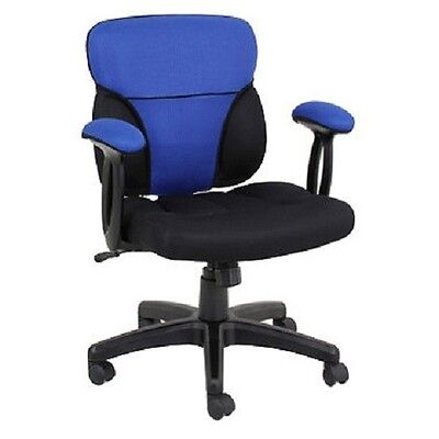 Reversible Blue and Red Cover for Cool Task Chair - COVER ON