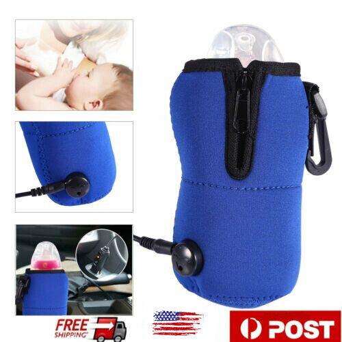 12V Food Milk Water Drink Bottle Cup Warmer Heater Car Auto Travel Baby KL