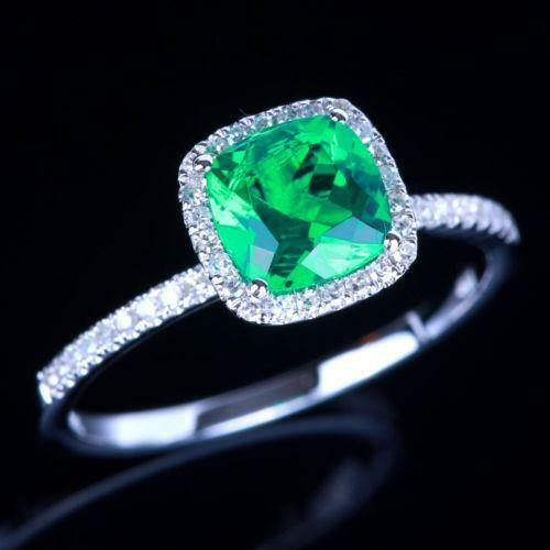 14k gold genuine emerald ring ebay