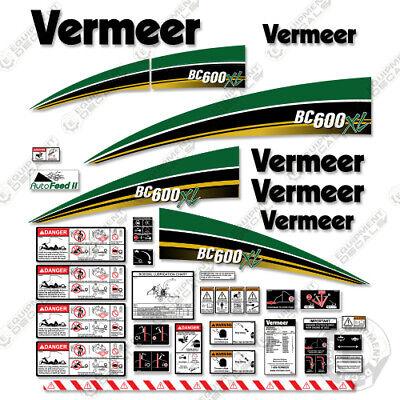 Vermeer Bc600xl Brush Chipper Decal Kit Bc 600 Xl