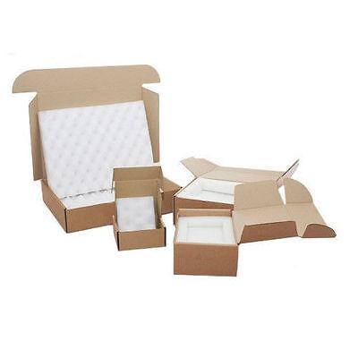 250 x Small Foam Lined Cardboard Postal Boxes / 115 x 110 x 55mm / 4 x 4 x 2