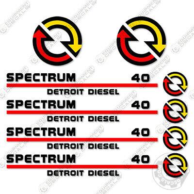 Detroit Diesel 40 Decal Kit - 40 Series Generator Replacement Decals