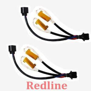 h13 hid relay warning error decoder canceller capacitor wiring harness set of 2 ebay