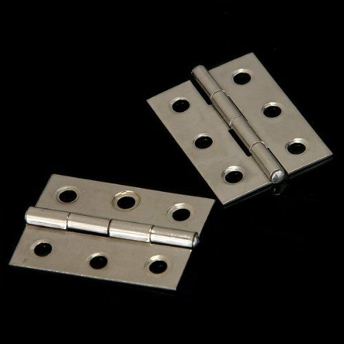 2X(2pcs Stainless Steel 2 Inch 4.4x3.1cm Cabinet Door Hinges Hardware 20CF)