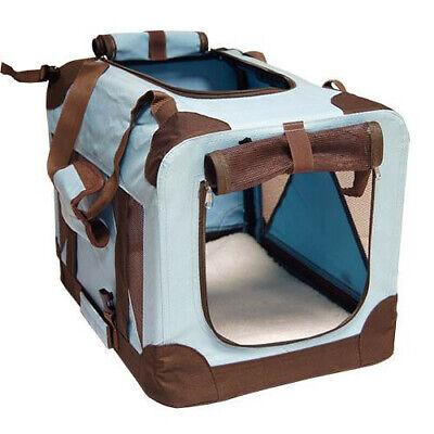 Transportin plegable caseta loneta Cargo portatil azul mediano 70x52x52 cm