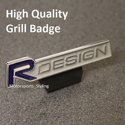 R DESIGN Front Grill Badge Emblem Decal Logo Sticker Blue Car Grille 111bg