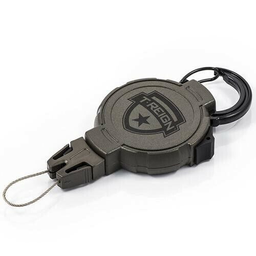 T-Reign 0TR0-025 Large Green Hunting Series Retractable Gear Tether w/ Carabiner