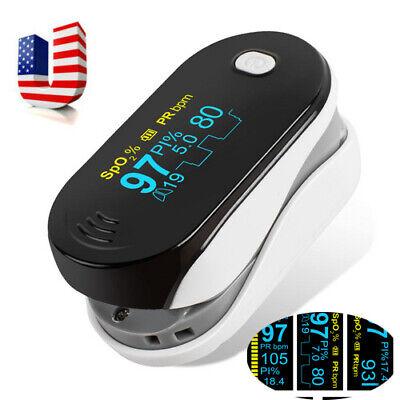 Portable Oled Finger Tip Pulse Oximeter Blood Oxygen Spo2 Pr Pi Respiration Rate