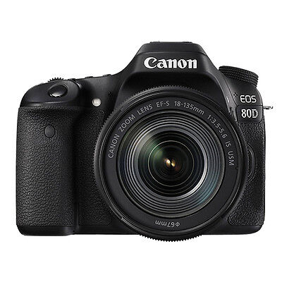 $1169.95 - Canon EOS 80D Digital SLR Camera with 18-135mm EF-S f/3.5-5.6 IS USM Lens