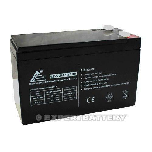 12v 7ah sealed lead acid battery ebay. Black Bedroom Furniture Sets. Home Design Ideas