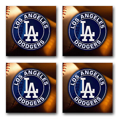 Los Angeles Dodgers Baseball Rubber Square Coaster set (4 pack) SRC2013
