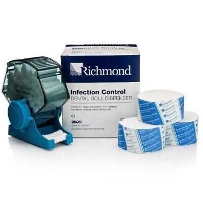 Richmond 200224 Infection Control Dental Roll Dispenser Blue