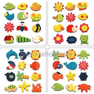 24pcs-Animal-Wooden-Fridge-Magnet-Sticker-Creative-Refrigerator-Items-Toy