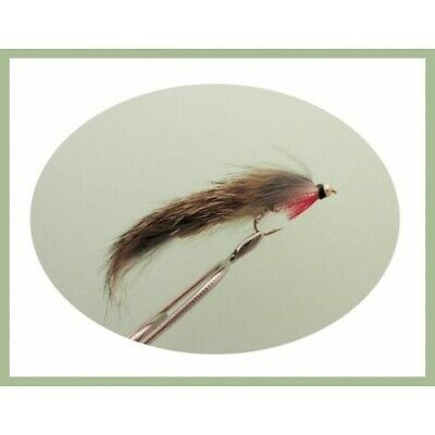 Size 10, 6 x Natural Goldhead Barbless Zonkers BARBLESS Zonker Trout Flies