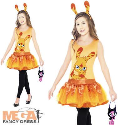 Katsuma Moshi Monster Girls Fancy Dress Halloween Game Costume Outfit 4-12 Yrs