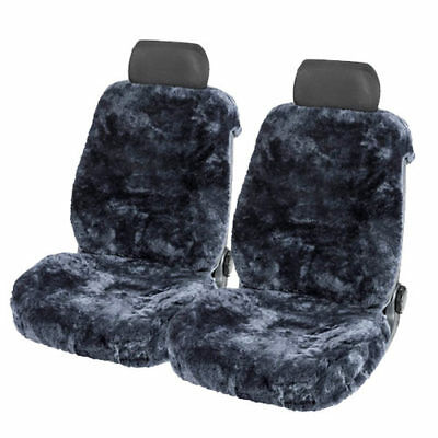 Lammfellbezug Auto Sitzbezug Sitzbezüge Lammfell silber Fellbezug