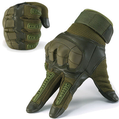 Touch Screen Tactical Motorcycle Airsoft Bicycle Hard Knuckle Full Finger Gloves