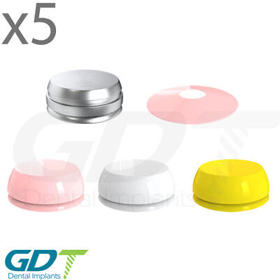 5 Click Attachment Accessories Set Silicone Metal Caps Dental Implant Gdt