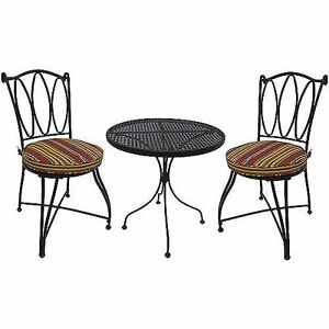 outdoor patio furniture 3 piece bistro set table 2 chairs patio deck
