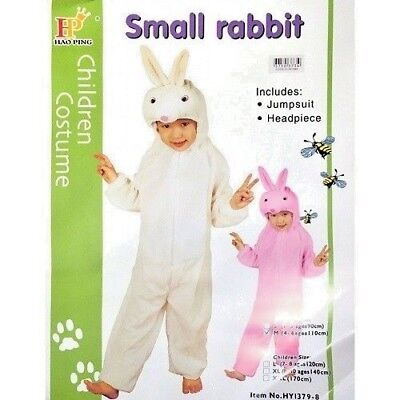 Childrens Rabbit Fancy Dress Outfit Aged 3-5 yrs Jumpsuit Play Suit Easter Bunny