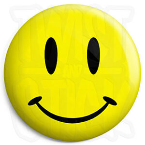 Acid house rave smiley face 25mm button badge with for Acid house rave