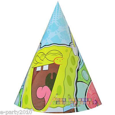 SPONGEBOB SQUAREPANTS Bubbles CONE HATS (8) ~ Birthday Party Supplies Favors Spongebob Squarepants Birthday Party Supplies