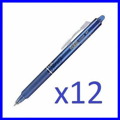 Newpilot Frixion Ball Clicker 0.7 Retractable Erasable Ink Gel Pen 12ct Blue