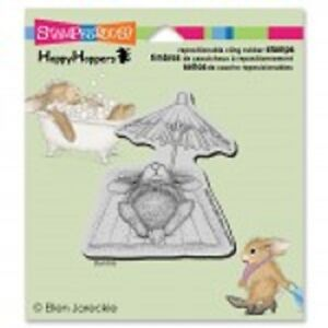 HOUSE-MOUSE-RUBBER-STAMPS-CLING-HAPPY-HOPPERS-UMBRELLA-NAP-STAMP
