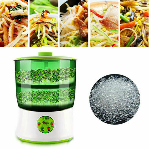 Household Automatic Bean Sprouts Tool 2-Layer Bean Seed Sprouter Machine Good