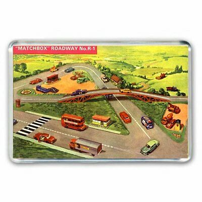 I played with my cars on this: RETRO MATCHBOX TOYS - ROADWAY JUMBO Fridge Magnet