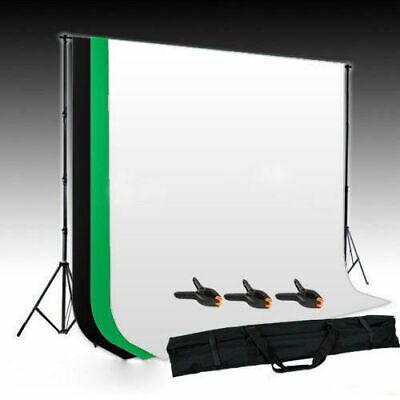 Fotostudio 3x Hintergrund schwarz Weiß grün Hintergrundstoff Hintergrundsystem