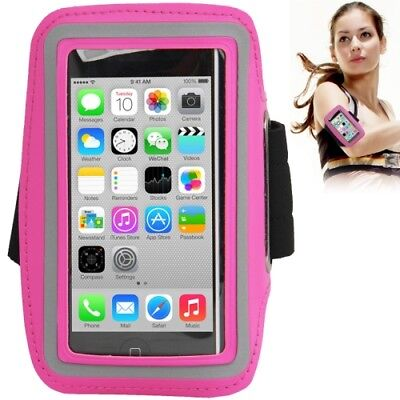 Sport Outdoor Armband für Apple iPhone 5 / 5S / 5C in pink Tasche Hülle (Rosa Iphone 5s Armband)