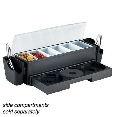 Value Series 574875 All-in-one Bar Caddy With Glass Rimmerscondiment Holders