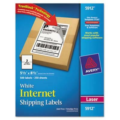 Avery Laser Printer Internet Shipping Labels - 5.50 Width X 8.50 Length 5912