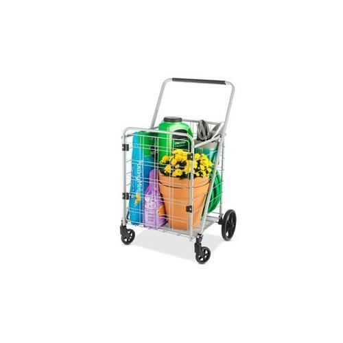 WHITMOR 6318-8585-BB Heavy Duty Utility Cart w Door