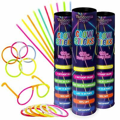 Bulk Party Supplies Fun Pack with 6 Sunglasses Connectors Sets 300 Glow Sticks